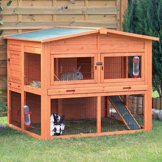TRIXIE Extra Large Rabbit Hutch with Attic