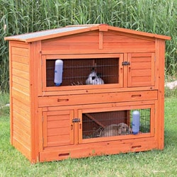 TRIXIE Large 2-story Rabbit Hutch with Attic