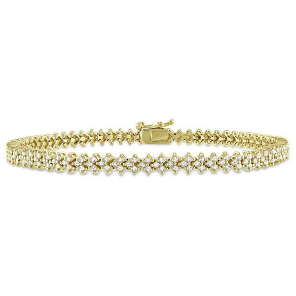 Miadora Signature Collection 10k Yellow Gold 2 1/3ct TDW Diamond Bracelet (G-H, SI1-SI2)