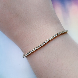 Miadora Signature Collection 10k Yellow Gold 2 3/5ct TDW Diamond Bracelet (G-H, SI1-SI2)