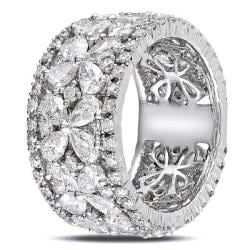 Miadora 14k White Gold 4 5/8ct TDW Diamond Fashion Band - Thumbnail 1