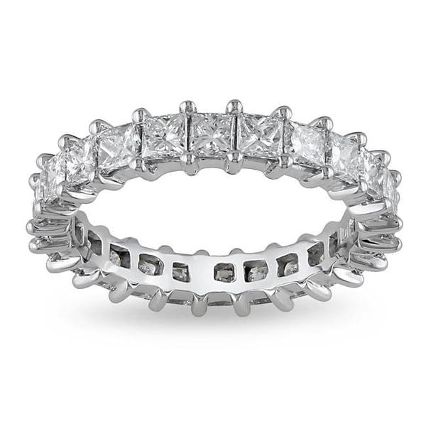 Miadora 18k White Gold 2 3/4ct TDW Diamond Eternity Ring (G-H, SI1-SI2)