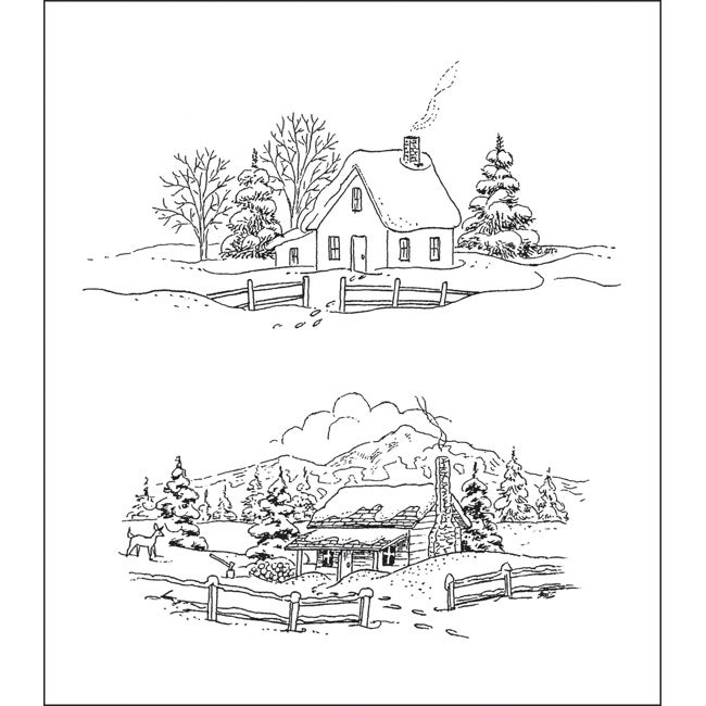 Heartfelt Creations 'Cozy Winter Days' Rubber Stamps