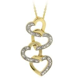 DB Designs 18k Gold over Silver 1/10ct TDW Diamond Heart Necklace