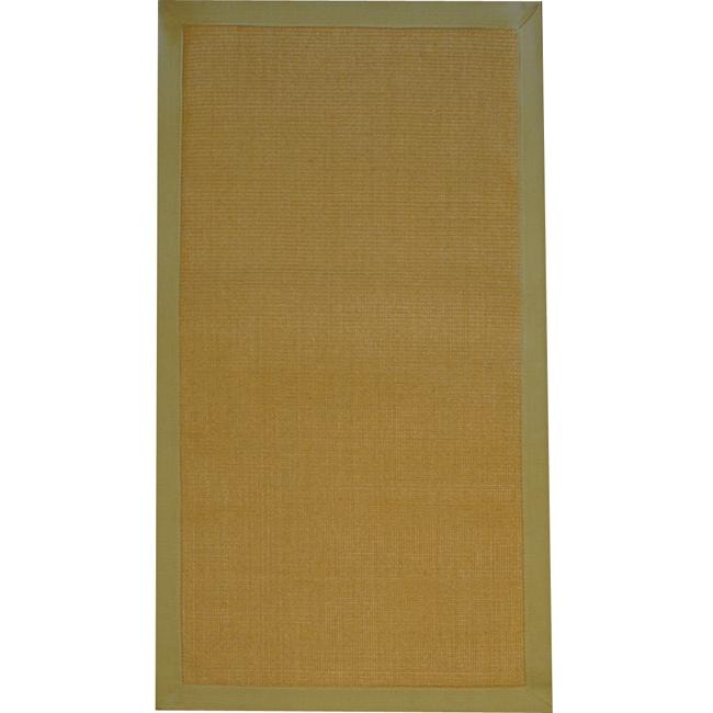 Asian Hand-woven Beige Sisal Natural Fiber Rug (2'6 x 4')