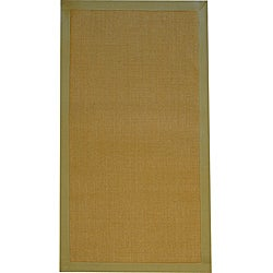 Asian Hand-woven Beige Sisal Natural Fiber Rug - 2'6 x 4' - Thumbnail 0