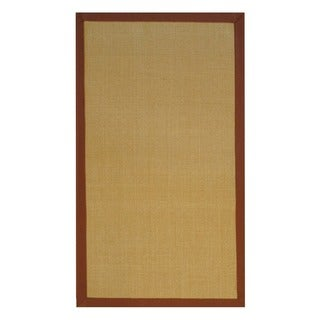 Herat Oriental Asian Hand-woven Beige/ Brown Sisal Natural Fiber Rug (2'6 x 4')