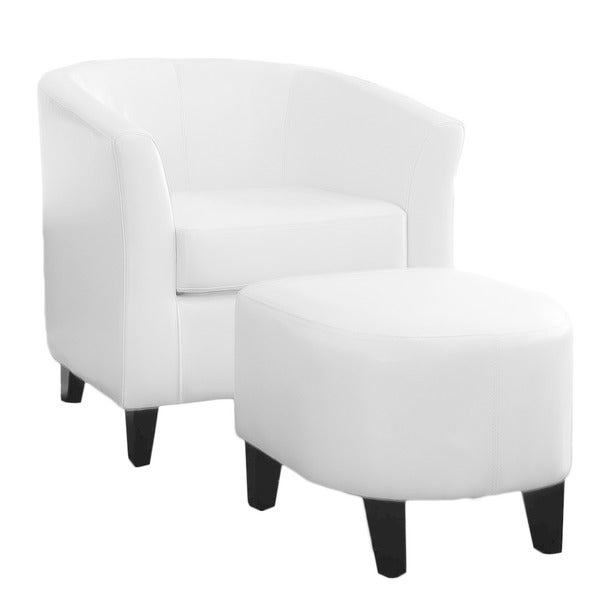 Shop Preston Ivory Club Chair And Ottoman Combo By Christopher