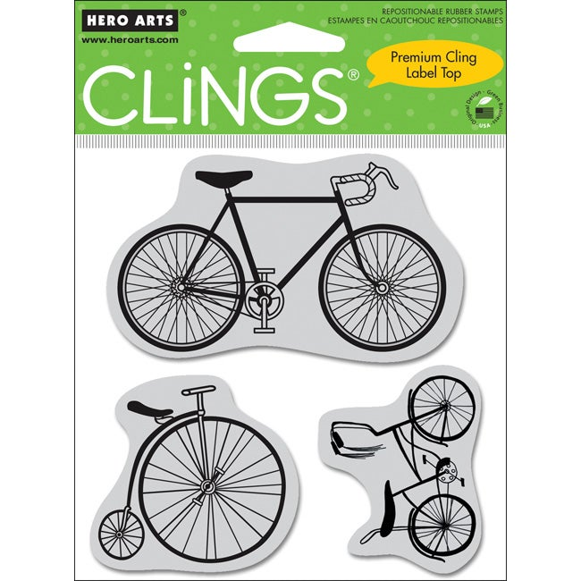 Hero Arts 'Bicycles' Cling Stamps