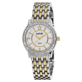 August Steiner Women's Dazzling Diamond Two-Tone Bracelet Watch with Dial