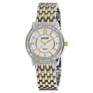 August Steiner Women's Dazzling Diamond Two-Tone Bracelet Watch with Dial