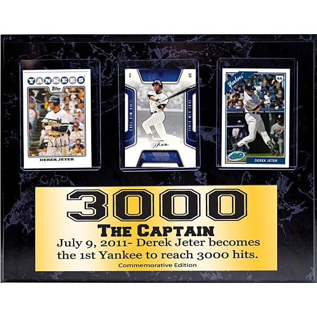Derek Jeter 3000 Hits 9x12 3 Card Commemorative Plaque