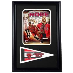 Chicago Bulls Derrick Rose MVP Pennant Frame