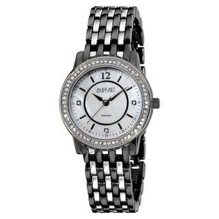 August Steiner Women's Dazzling Diamond Two-Tone Bracelet Watch