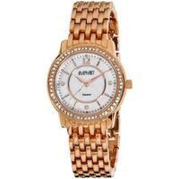 August Steiner Women's Water-Resistant Dazzling Diamond Rose-Tone Bracelet Watch