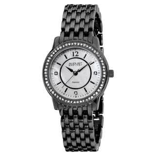 August Steiner Women's Swiss-Quartz Dazzling Diamond Black Bracelet Watch|https://ak1.ostkcdn.com/images/products/6101044/P13768671.jpg?impolicy=medium