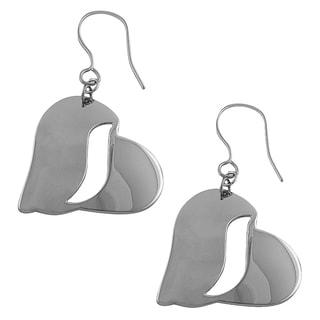 Fremada Stainless Steel Polished Heart Dangle Earrings