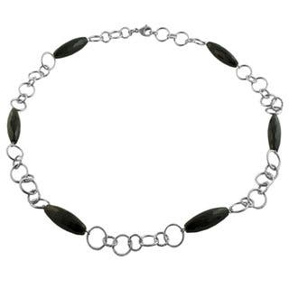 Fremada Stainless Steel Black Onyx Station Necklace|https://ak1.ostkcdn.com/images/products/6101113/P13768709.jpg?impolicy=medium