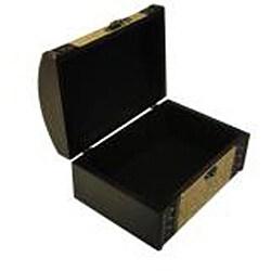 Classic Jewelry & Keepsake Box in Mahogany & Yellow Flower (Set of 2)