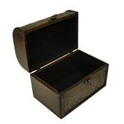 Travel Jewelry & Keepsake Box in Aged Mahogany & Brown Leather (Set of 2) - Thumbnail 1