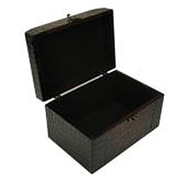 Faux Leather Jewelry & Keepsake Box in Red & Black (Set of 2) - Thumbnail 1