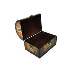 Decorative Jewelry & Keepsake Box with Paris Lady (Set of 2)