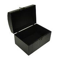 Faux Leather Jewelry & Keepsake Box in Dark Purple & Black (Set of 2)