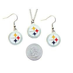 Pittsburgh Steelers Necklace and Earring Charm Set - Thumbnail 1