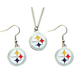 Pittsburgh Steelers Necklace and Earring Charm Set|https://ak1.ostkcdn.com/images/products/6102048/Pittsburgh-Steelers-Necklace-and-Earring-Charm-Set-P13769375.jpg?impolicy=medium