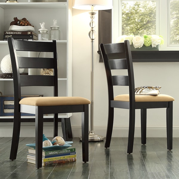 TRIBECCA HOME Wilmington Black Ladder Back Dining Chair (Set of 2)