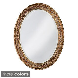 Burma  Resin Floral Oval Mirror