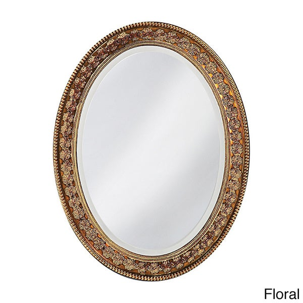 Burma  Resin Floral Oval Mirror