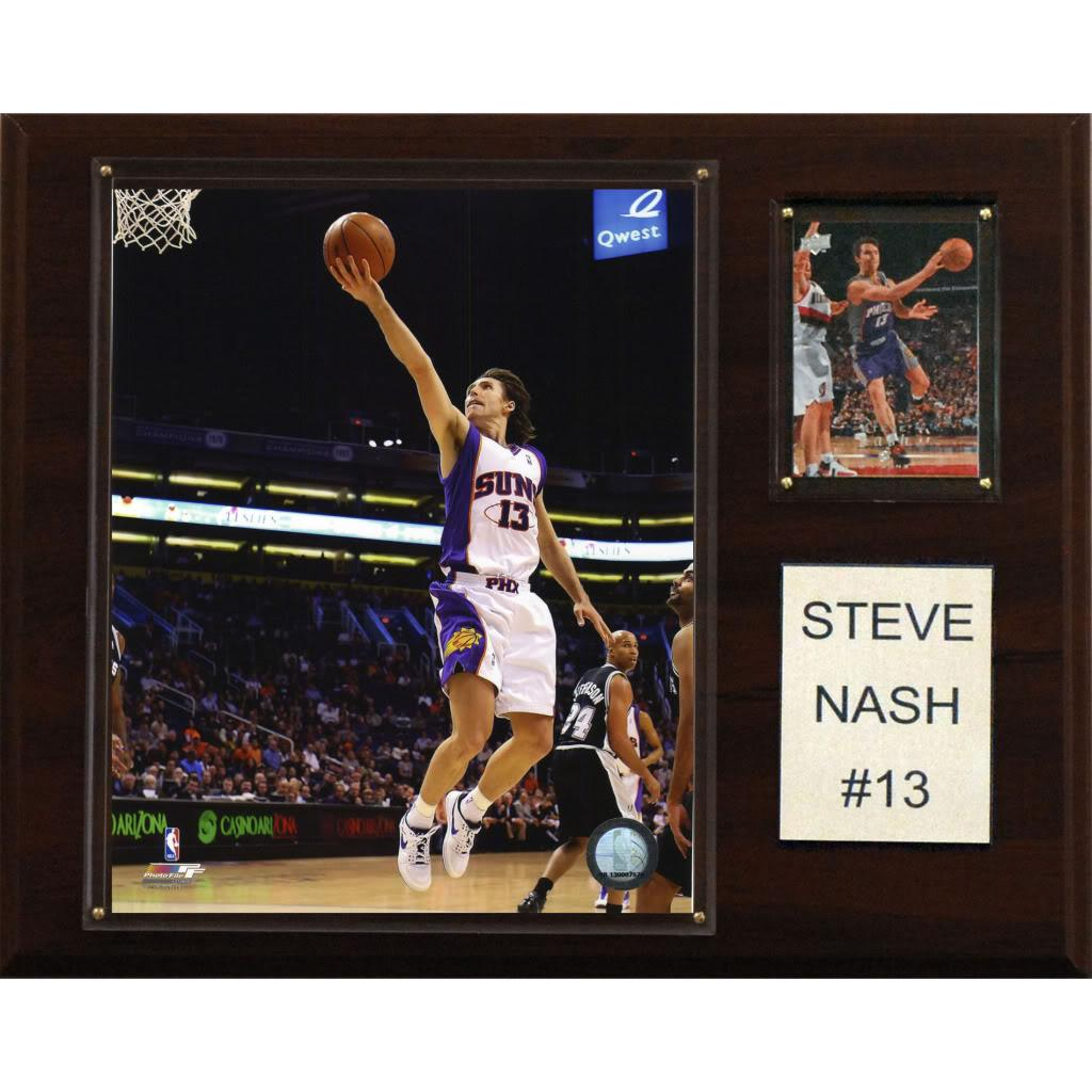 Steve Nash 12x15 Cherry Wood Player Plaque