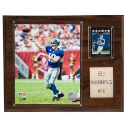 Eli Manning 12x15 Cherry Wood Player Plaque - Thumbnail 0