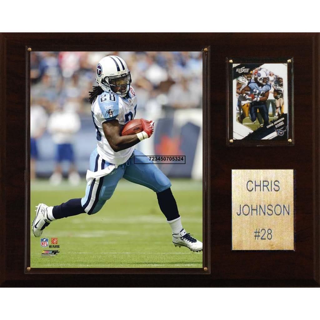 Chris Johnson 12x15 Cherry Wood Player Plaque