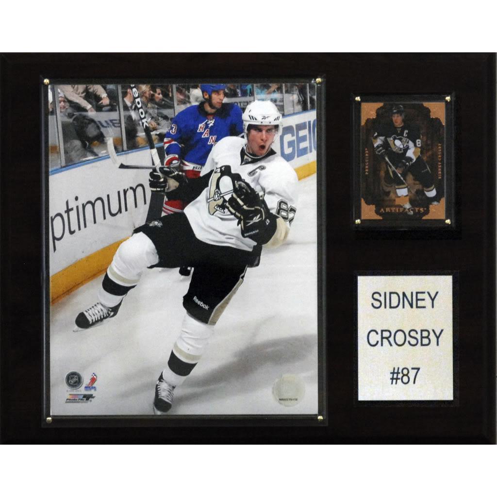 Sidney Crosby 12x15 Cherry Wood Player Plaque
