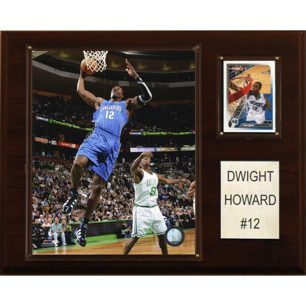 Dwight Howard 12x15 Cherry Wood Player Plaque