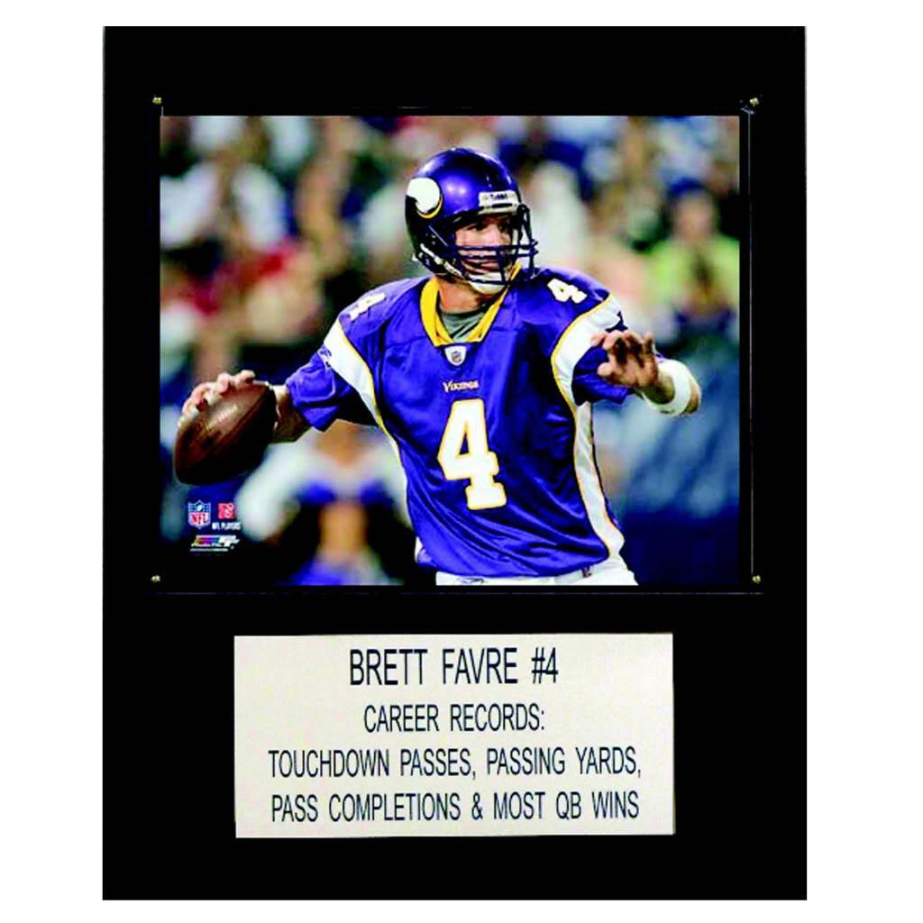 Brett Favre 12x15 Cherry Wood Player Plaque