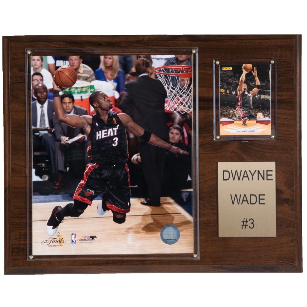 Dwyane Wade 12x15 Cherry Wood Player Plaque
