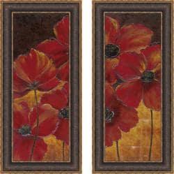 "Richard Henson ""Midnight Poppy I & II"" Framed Print Art"