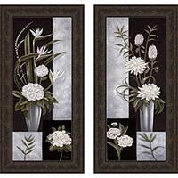Betsy Brown 'Black & White Centerpiece I & II' Framed Print Art