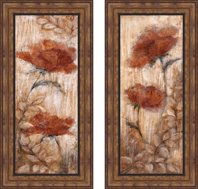 Rosie Abrahams 'Long Tall Poppies I & II' Framed Print Art