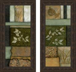 Norm Olson 'Elements of Nature I & II' Framed Print Art