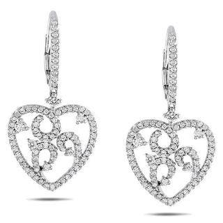 Miadora Signature Collection 14k White Gold 1ct TDW Diamond Heart Earrings|https://ak1.ostkcdn.com/images/products/6102237/P13769535.jpg?impolicy=medium