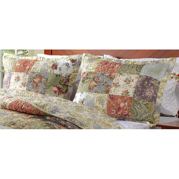 Greenland Home Fashions Blooming Prairie Quilted King-size Shams ... : quilted king shams - Adamdwight.com