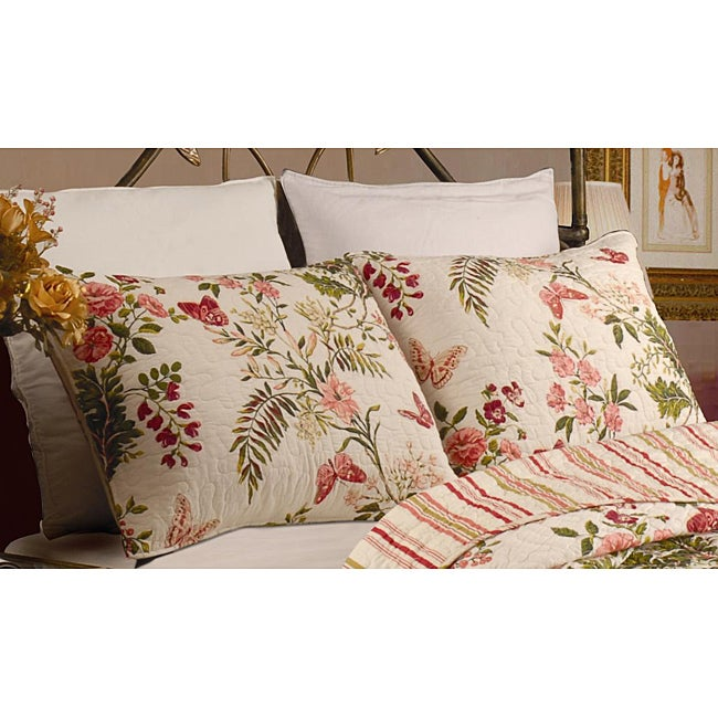 Greenland Trading Butterflies King-size Shams (Set of 2) ...