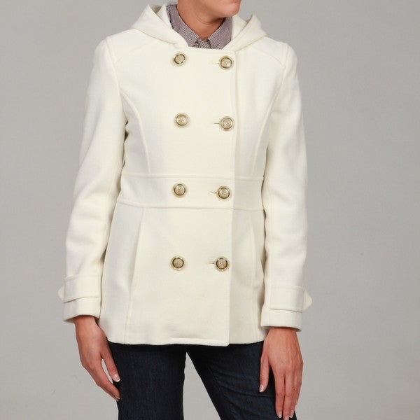 White Pea Coat Mens | Down Coat