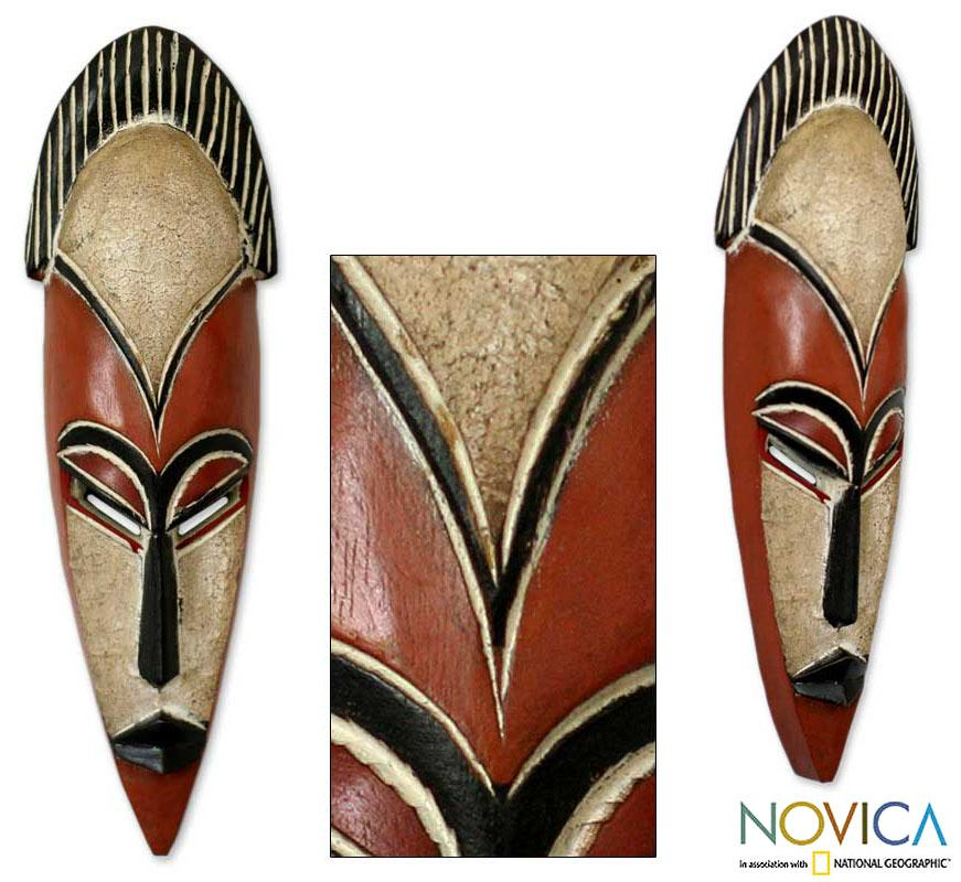 African Sese Wood 'Protect The Forest' Mask (Ghana)