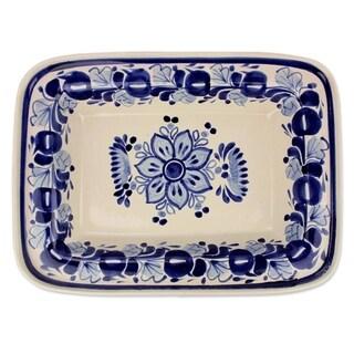 Handmade Ceramic 'Colonial Bouquet' Majolica Decorative Plate (Mexico)