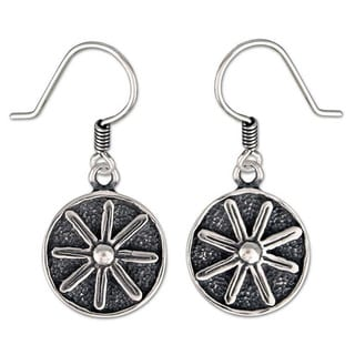 Handmade Sterling Silver 'Lucky Flower' Earrings (Mexico)